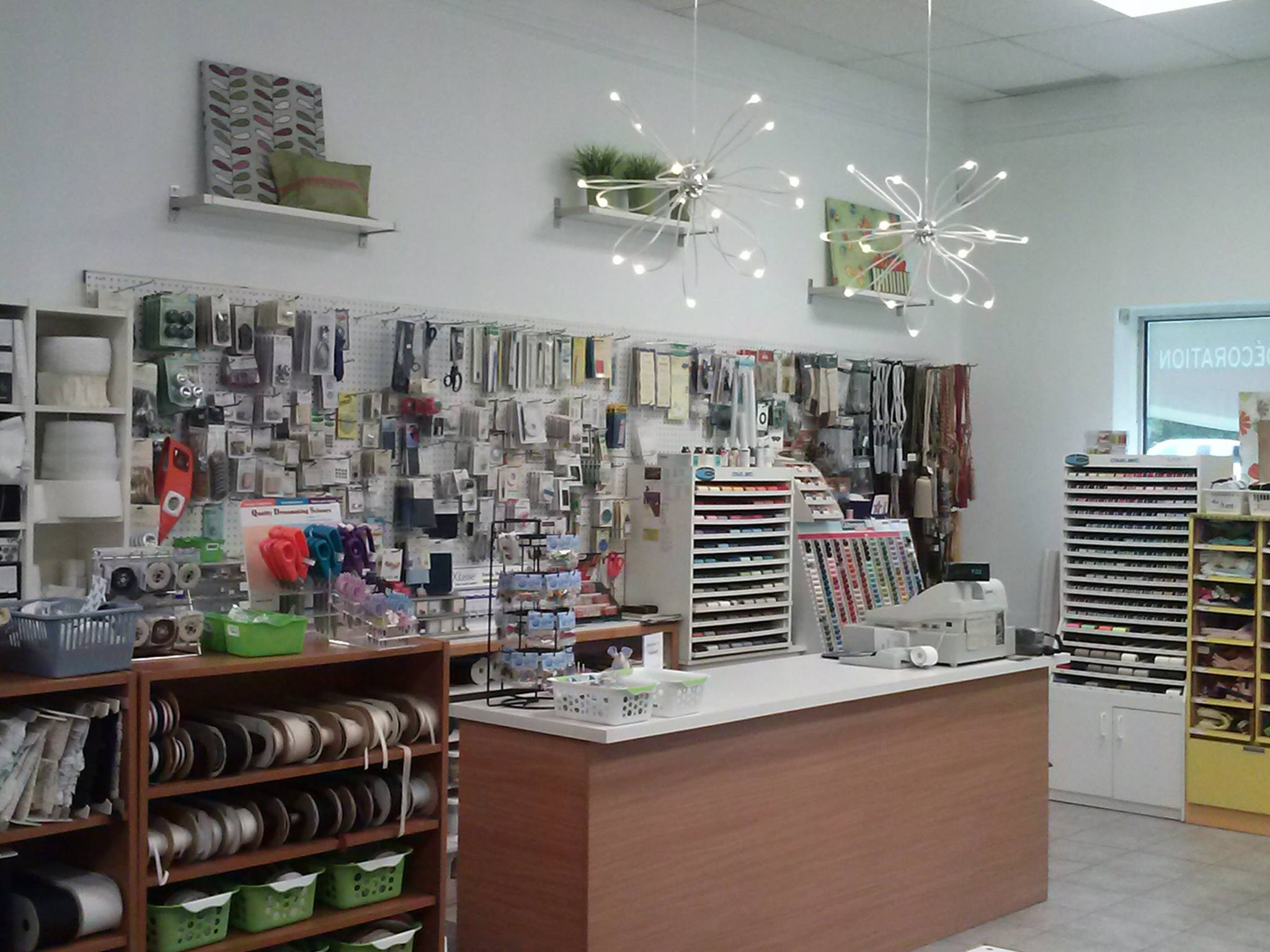 fabric and sewing equipment store